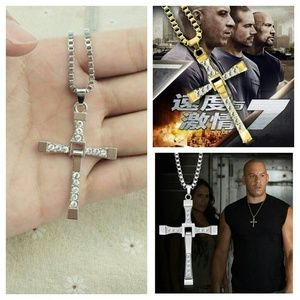 Classic Rhinestone Pendant Cross Necklaces